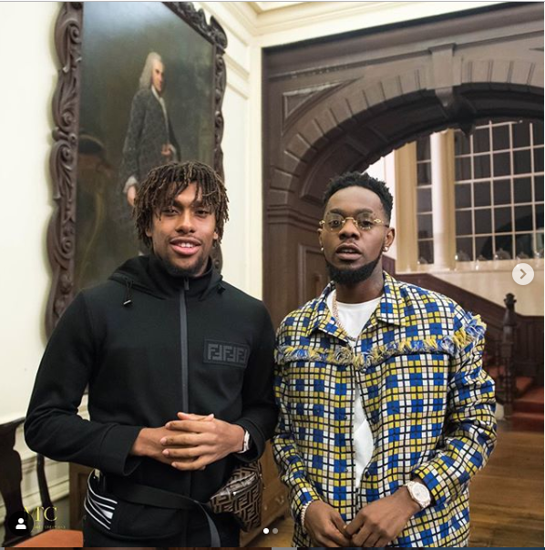 [PHOTOS] Patoranking Pictured With Arsenal And Super Eagles Star Alex Iwobi